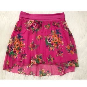 Aeropostale High-low Pink Floral Skirt - NWT